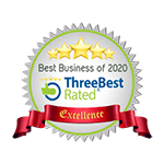 Three Best Rated Best Business of 2020 Badge