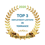 Three Best Rated Top 3 Employment Lawyers in Torrance 2020 Badge