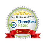 Three Best Rated Best Business of 2021 Badge