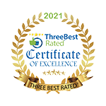 Three Best Rated Certificate of Excellence 2021 Badge