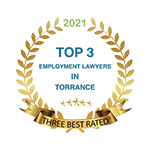 Three Best Rated Top 3 Employment Lawyers in Torrance 2021 Badge